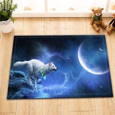 """Moon Wolf 15X23"""" Kitchen Door Mats Bathroom Shower Floor Non-Slip Bath Mat Rug"""