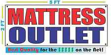 MATTRESS OUTLET Banner Sign NEW Size Great Quality for Great Price