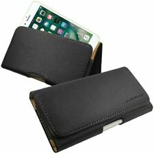 Black Universal Belt Pouch Clip Hip Loop Case for Mobile Phone Cover PU Leather