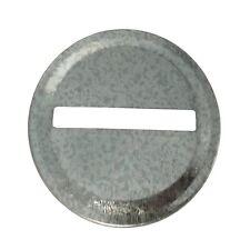 Galvanized Metal Coin Slot Bank Lid Inserts for Mason Jar (6 Pack, Regular