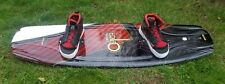 O'BRIEN Clutch 137 Wakeboard by Chris Johnson w O'Brien Clutch Boots Size 9 - 12