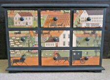 Tabletop Cabinet Chest 9 Drawers Carol Offet 'Amish Autumn' Shipsewang Primitive