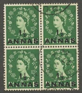 AOP BPAEA Muscat 1 1/2a green used block of 4