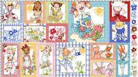 """Loralie APRONESQUE Ladies Apron Designs Panel Quilt Fabric 23"""" x 44""""  #692-135"""