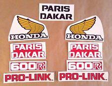 Autocollants / Stickers / Decals PARIS DAKAR Honda XL600R - XLR 600 (1983)