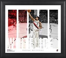 """Hassan Whiteside Portland Trail Blazers Framed 15"""" x 17"""" Player Panel Collage"""