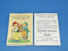CHROMO CHOCOLATERIE FRANCO-BELGE HALLUIN NORD COSTUMES FRANCE BOURGOGNE MACON