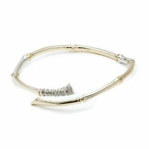 New Alexis Bittar Bangle Bamboo gold tone bracelet