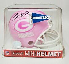 Mini Bart Starr Helmet Packers Signed Green Bay COA Auto Riddell Pink Tristar