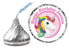 108 RAINBOW UNICORN BIRTHDAY PARTY FAVORS HERSHEY KISS KISSES LABELS