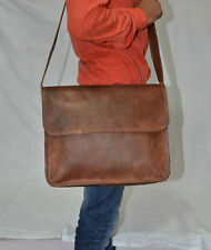 New Men's Handmade Handcrafted Satchel Genuine Leather Messenger Laptop S Bag