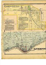 Antique 1870 Map of Liverpool & Washingtonville, Ohio from Columbiana Cty Atlas