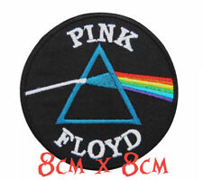 Quality Iron/Sew on Pink Floyd patch biker Dark side of the moon prism the wall