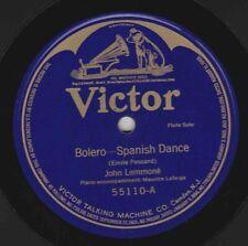 John Lemmoné  78 rpm Victor 55110: Bolero (Pessard)/Scherzo Capriccio (Sabatini)