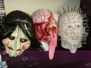 Horror Mask Collection - Hellraiser, Resident Evil and Saw