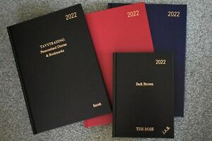 PERSONALISED 2022, A4 and A5 Week to View Diaries. Your Name or Message Embossed