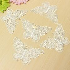 10Pcs White Lace Butterfly Sew On Appliques Decorative Sewing Patch DIY Craft