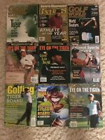 Golf World TIGER WOODS Lot THE MASTERS Eye On The Tiger NO LABELS NewsStand