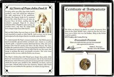 Pope John Paul II Coin Commemorating His 25-Year Anniversary Album & Certificate