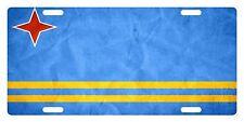 ARUBA Flag Custom License Plate Arubans  Emblem Paper Version