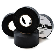 2 x 19mm x 33m BLACK ELECTRICAL PVC INSULATION INSULATING TAPE FLAME RETARDANT