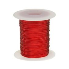 "23 AWG Gauge Heavy Copper Magnet Wire 2 oz 78' Length 0.0249"" 155C Red"