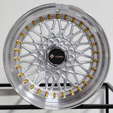 "4-New 16"" Vors VR3 Wheels 16x8 4x100/4x114.3 20 Silver Rims"