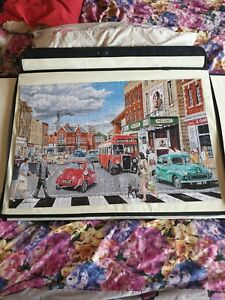1000 piece jigsaw puzzle ~~ 1960's HIGH STREET ~~ used ~~ ALL PIECES PRESENT