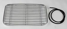 Engine Grille, Curved. BECK Speedster Spyder. 356A polished aluminum w/ rubber