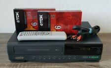 Samsung Vr5604 4 Head Vcr Vhs Tape Player Recorder & Remote Cables 2 Blank Tapes