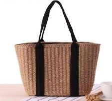 Women's Bohemian Straw Bags Large Capacity Beach Handbag Vintage Rattan Handmade