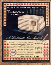 Vintage Mirror-tone Radio Punch Board Trade Stimulator Unused Premium