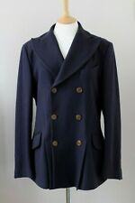 VIVIENNE WESTWOOD Man navy blue wool cashmere jacket coat IT50 UK40 L