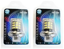 2 AMPOULES LED BLANC 12V H7 4,8W 48 LED 5050 SMD + 3528 SMD PEUGEOT 308 SW