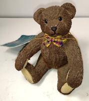 "Goebel Paw Prints Sitting Teddy Bear ""SAMUEL""  Figurine 4"" Tall with Hangtag"