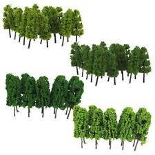 Pack of 40pcs 1:150 N Gauge Model Trees Layout Buildings Diorama Wargame