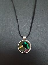"Mallard Duck Pendant On a 18"" Black Cord Necklace Ideal Birthday Gift N66"