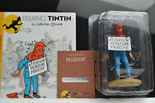 FIGURINE RESINE  HADDOCK  COUVERT DE PEINTURE  SERIE TINTIN N°69