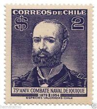 Chile 1955 #544 75 Aniversario Combate Naval de Iquique Capitan Arturo Prat MNH