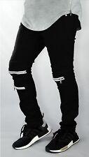 Men's pants JEAN biker DENIM ripped jeans Slim Fit Biker Distressed SPLASH