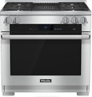 Miele HR1935DFGRLP M-Touch 36 Inch Pro-Style Dual-Fuel LP Range Stainless Steel photo