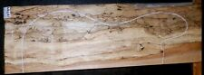 Flame Spalted Curly Maple Wood 10794 Luthier 5A Black Line Guitar billet lumber