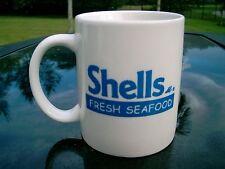 SHELLS FRESH  SEAFOOD RESTAURANT COFFEE MUG  COLORFUL FISH LOGO