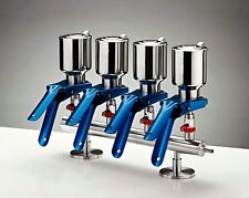 Azzota 4-Branch Vacuum Filtration Manifolds, 316 Grade Stainless Steel