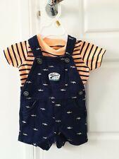 Carter's Tiburón Azul/Naranja bebé mameluco traje de 3 meses