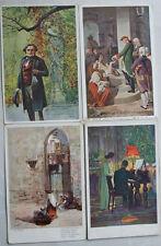 4 alte Ak.Künstlerpostkarten Orientalische Szene,Cisar Josef za hladu v Praze