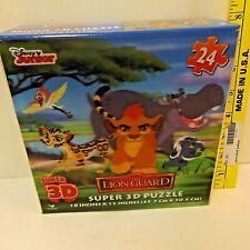 """Disney Junior Lion King The Lion Guard Puzzle Super 3D 24 Pieces 18"""" x 12"""" New"""