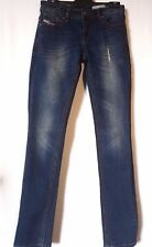"WOMEN'S JEANS DIESEL DISTRESSED SKINNY STRETCH SIZE 9 LEG 32"" NEW FREE POSTAGE"