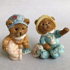 Vintage BOYDS BEARS Figurines Set BABY Bearstone Home Ornament Kids Room Decor