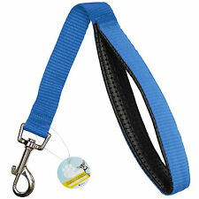 ME & MY BLUE SHORT CLOSE CONTROL DOG LEAD/TRAINING/TRAFFIC STRONG PADDED GRIP